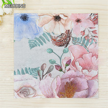 MEIDDING-20pcs/lot beautiful Flower paper napkin wedding /Cocktail/ /Birthday party table supplies Tissue Napkins Decoupage