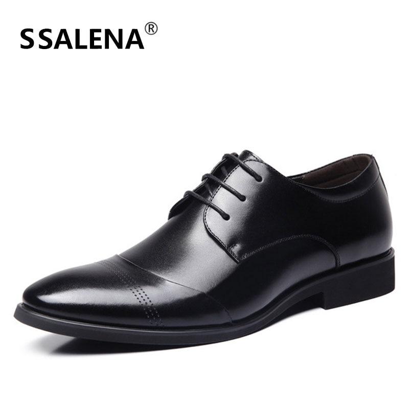 bef8e779c0adc2 Formelle De Bureau Robe Pointu Style Homme Bout Oxford Dentelle Chaussures  Hommes up marron Aa51517 Simple ...