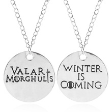 1 Set Game Of Thrones Necklaces House stark Valar Morghulis &Winter Is Coming Pendant Choker Women Men Jewelry Accessories цена