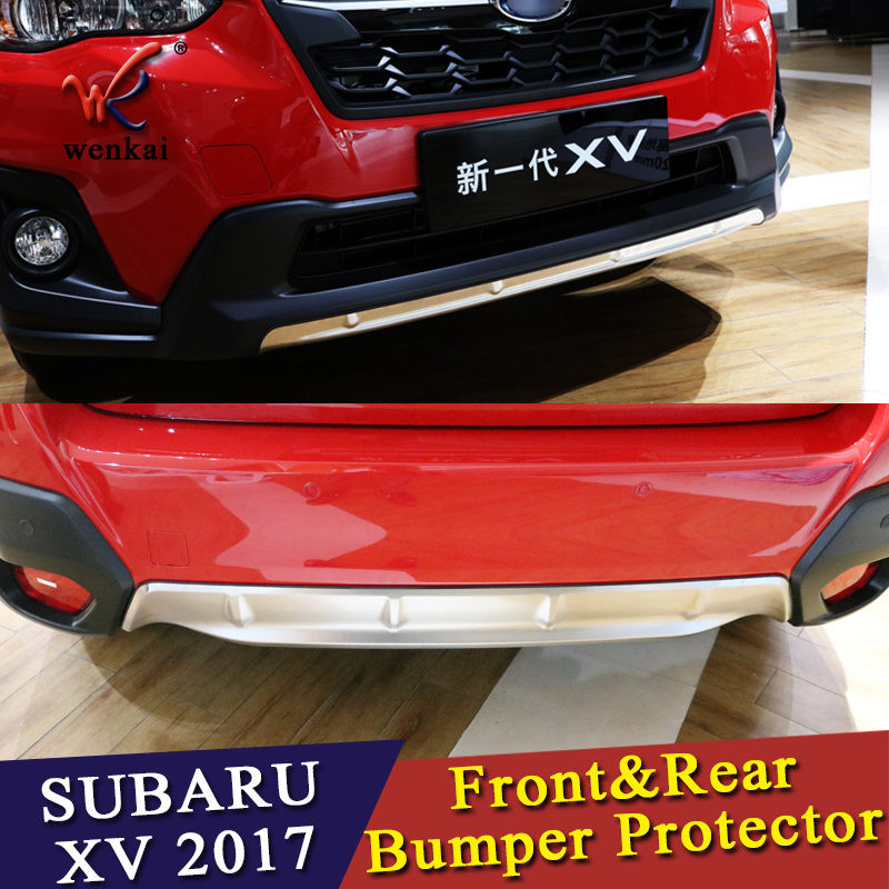 WK Car Styling For Subaru XV GT3 GT7 2017 2018 Stainless Steel Front & Rear Bumper Skid Protector Guard Plate Cover Trims 2pcs