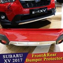 WK Автомобиль Стайлинг для Subaru XV GT3 GT7 2017 2018 Нержавеющаясталь передний и задний бампер занос протектор гвардии заглушка планки 2 шт.