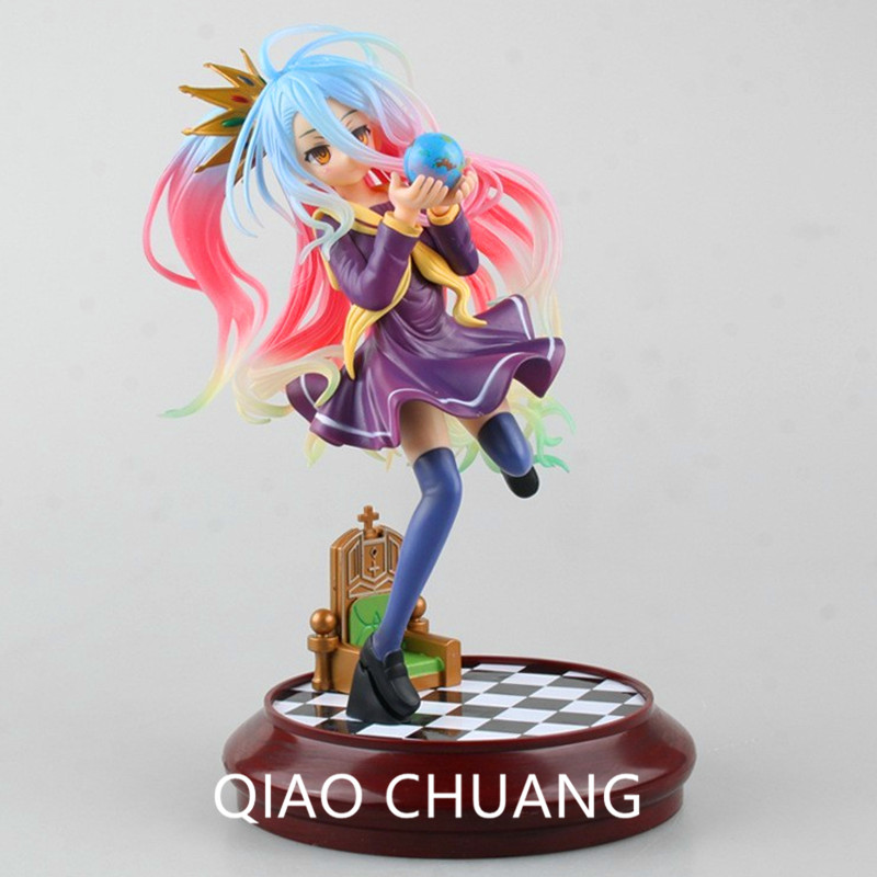 Anime Life No Game No Life 2 Shiro Game of Life Painted second generation Game of Life 1/7 scale PVC action figure model S233 15cm anime life no game no life shiro game of life 1 7 scale pvc action figure model toys
