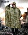 REEBOW TACTICAL Outdoor Camouflage Raincoat Men Jungle Multifunctional Poncho 220x148cm 350D Nylon Scratch-resistant Waterproof