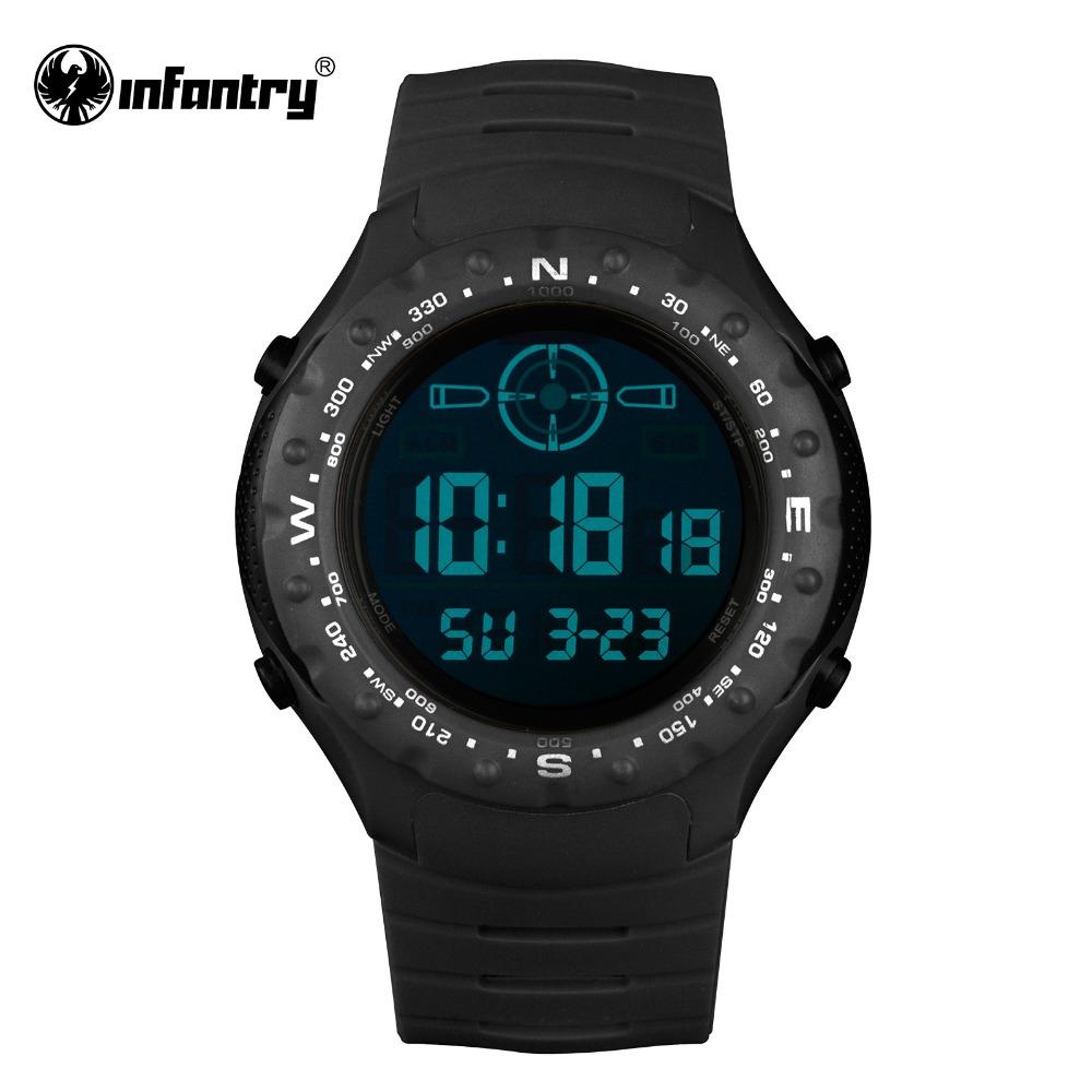 Prix pour INFANTRY Hommes Montres Militaire Armée Numérique Montres pour Hommes 2017 Lumineux 30 M Étanche Montre De Sport Décontractée Horloge Reloj