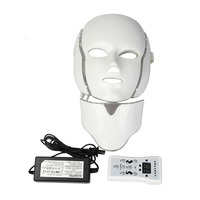 7 Colors LED Light Microcurrent Facial Mask Machine Photon Therapy Skin Rejuvenation Facial Mask Whitening Electric