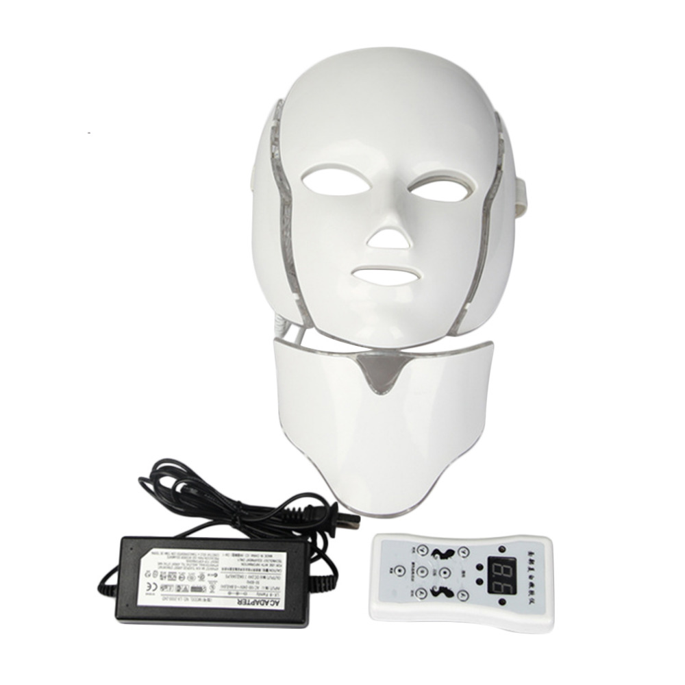 7 Colors LED Light Microcurrent Facial Mask Machine Photon Therapy Skin Rejuvenation Facial Mask Whitening Electric Device new electric iontophoresis red led light photon therapy ems microcurrent face lifting skin tightening facial tonner beauty device