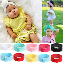 Cute Kids Girls Baby Toddler Turban Knot Headband Hair Band Accessories Headwear head bands for baby girls haarbandjes baby girl(China)