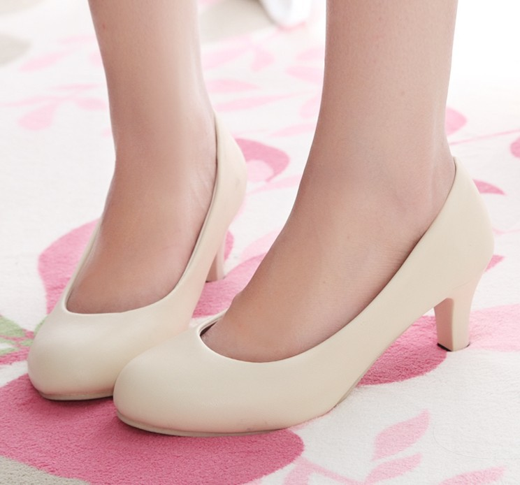 Aliexpress.com : Buy Free shipping female shoes nude color high