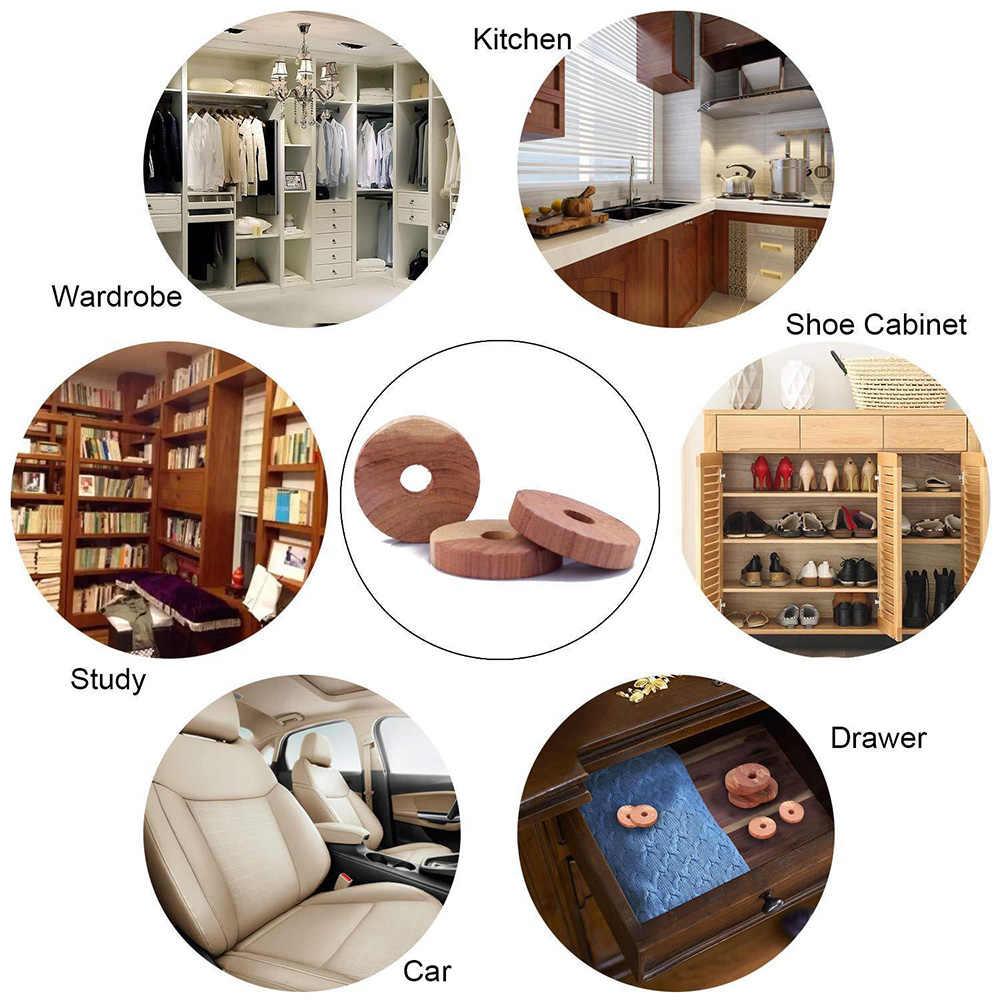 12 قطعة خشب الأرز الطبيعي الكافور الكرة صرصور موثبرووف دائم خزانة الملابس درج الأحذية تخزين الملحقات