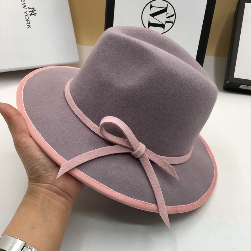 Winter hats for women purple hat fashion wool and elegant wide-brim hats  lovely fedoras 12a31d2c591