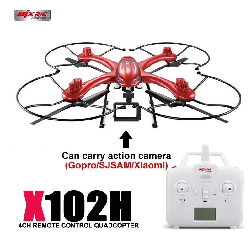 цена на MJX X102H FPV RC Drone With One Key Return Altitude Hold RC Helicopters Quadcopter Can Carry Gopro/Sjcam/Xiaomi VS MJX X101 X8HW