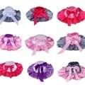 Bebé infantil niñas satén Fotografía arco dulces colores balón vestido de pettiskirt tutu falda faldas patchwork