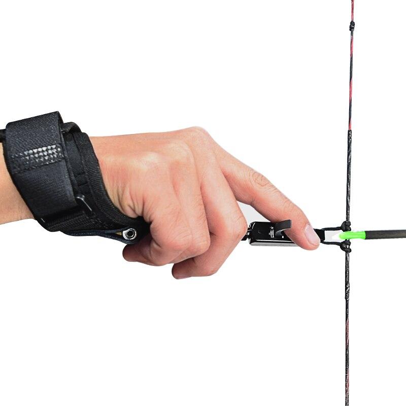 1X Hohe Qualität Jagd Bogenschießen Pfeile und Bogen Release Durable Metall und Kraft Sparen Release für Verbindung Bogen Kostenloser Versand