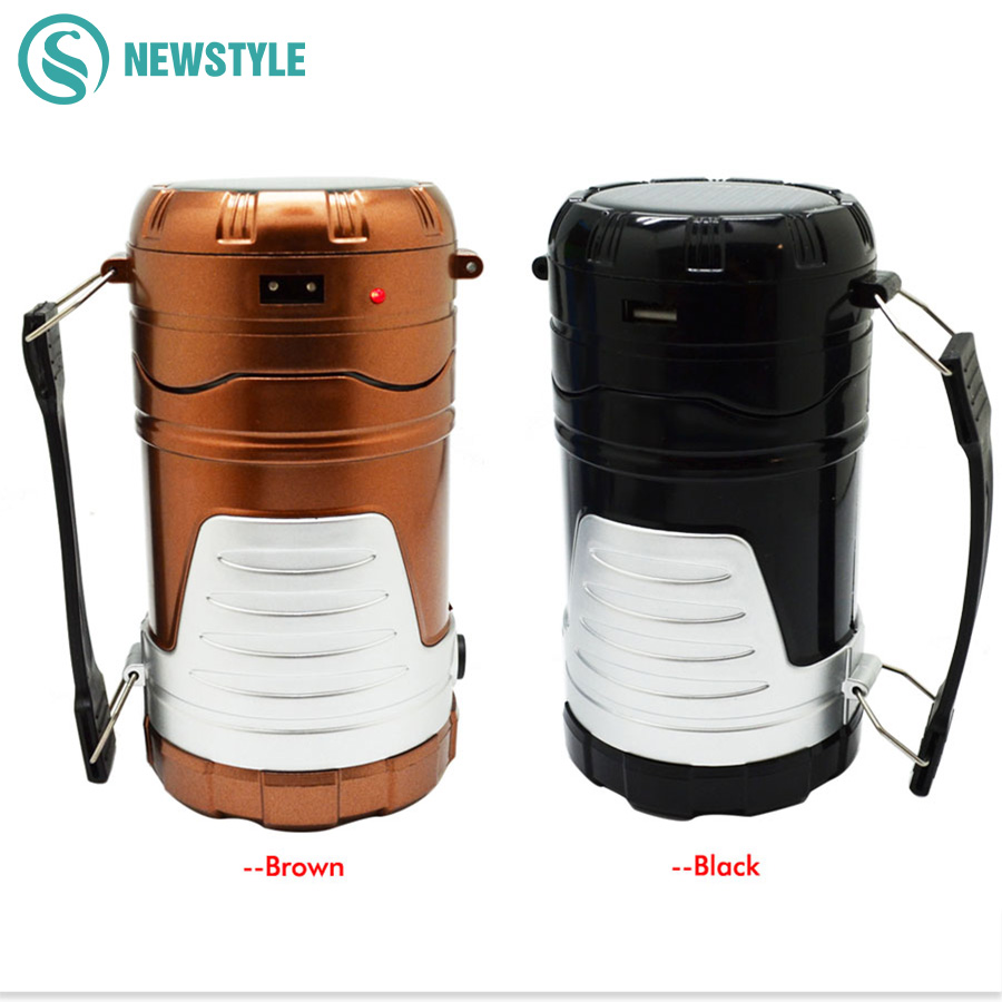 Multi-Function 6leds Portable Light Rechageable Solar lamp Camping light Tent Emergency Outdoor Lighting for Hiking,fishing