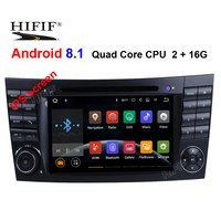 IPS RAM 2G 1024*600 Quad Core Android 8.1 Car DVD For Mercedes BENZ W211 E Class W219 CLS Player GPS TV 3G Radio Support DTV DAB