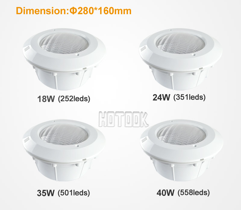 12v Outdoor Led Floodlight 24w Ip68 Swimming Pool Light Rgb 351leds With Plastic Cover Used In Concrete Ce Rohs X 2pcs Underwater Lights From