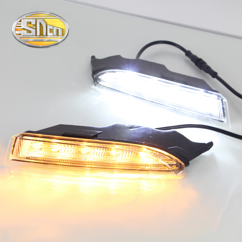 For Volkswagen Scirocco 2013 2014,Turn Yellow Signal Style Relay Waterproof 12V Car LED DRL Daytime Running Light Daylight SNCN 1set car accessories daytime running lights with yellow turn signals auto led drl for volkswagen vw scirocco 2010 2012 2013 2014