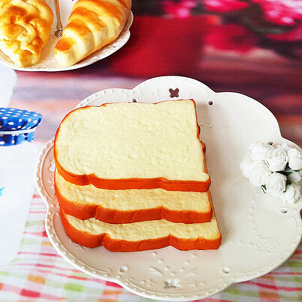 ᐊAroma en rodajas Jumbo Squishy suave pan tostado niños juguete ...