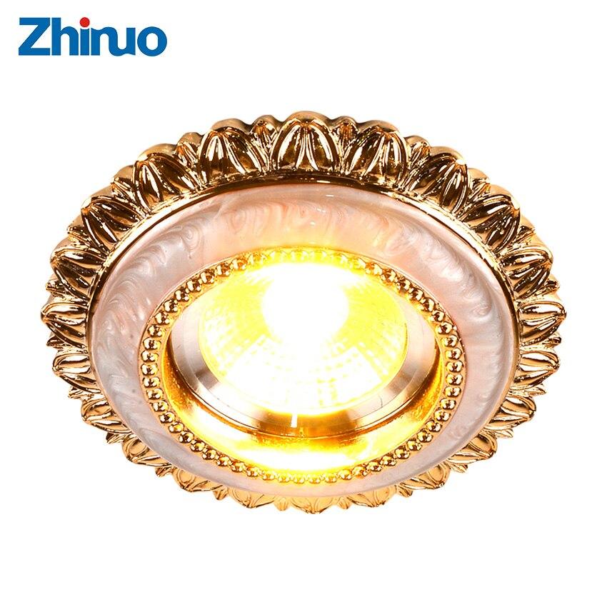 Zhinuo Living Room European style Downlight LED COB light lamp 3W Constant Current Drive 220V Warm White Ceiling Spot Lights sencart e14 3w white light cob led spot light 150lm 5900 6200k