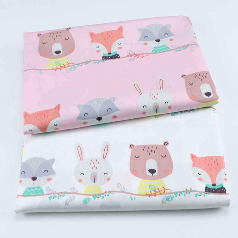 50x40cm cotton animal print fabric DIY sewing uphostery craft for Baby&Children Quilting Sheets Dress Material