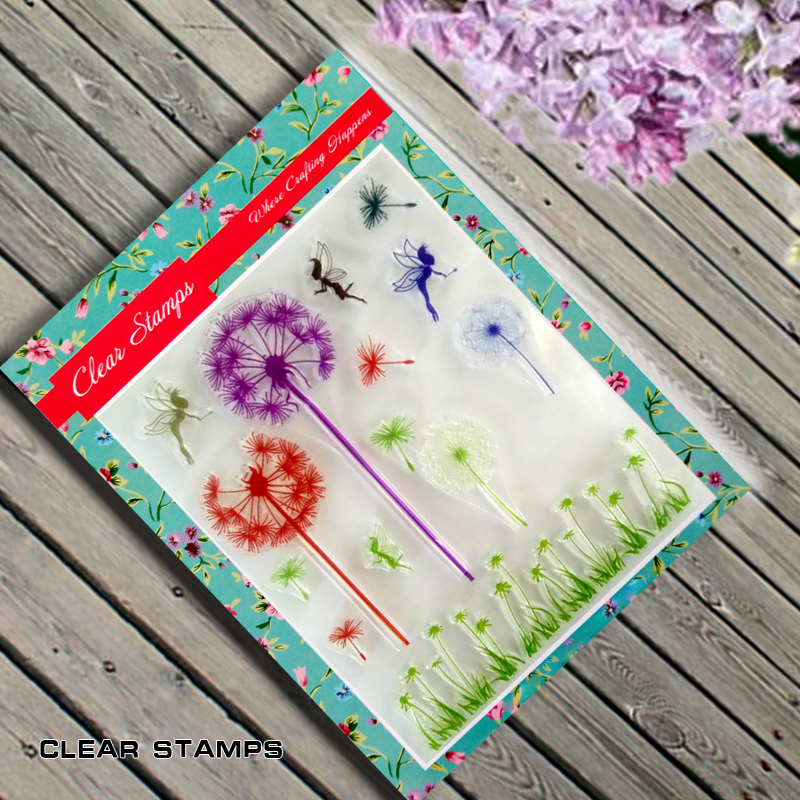 Dandelion Flowers Scrapbook DIY photo cards account rubber stamp clear stamp finished transparent chapter  14.8*18 scrapbook diy photo cards account rubber stamp clear stamp finished transparent chapter cute cats 11 20