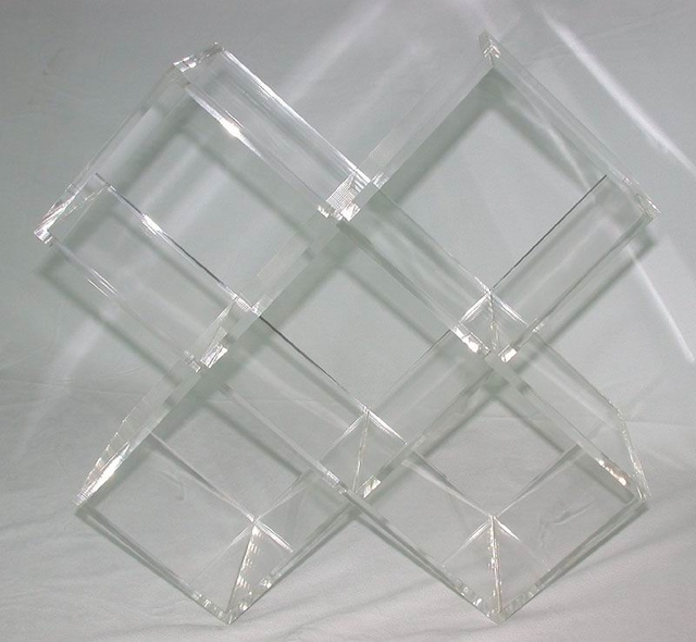 KD packed Desktop Acrylic 5 Grids Screen Showcase, Lucite CD Storage Racks