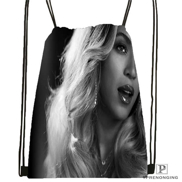 Custom Beyonce @1 Drawstring Backpack Bag For Man Woman Cute Daypack Kids Satchel (Black Back) 31x40cm#20180611-03-142