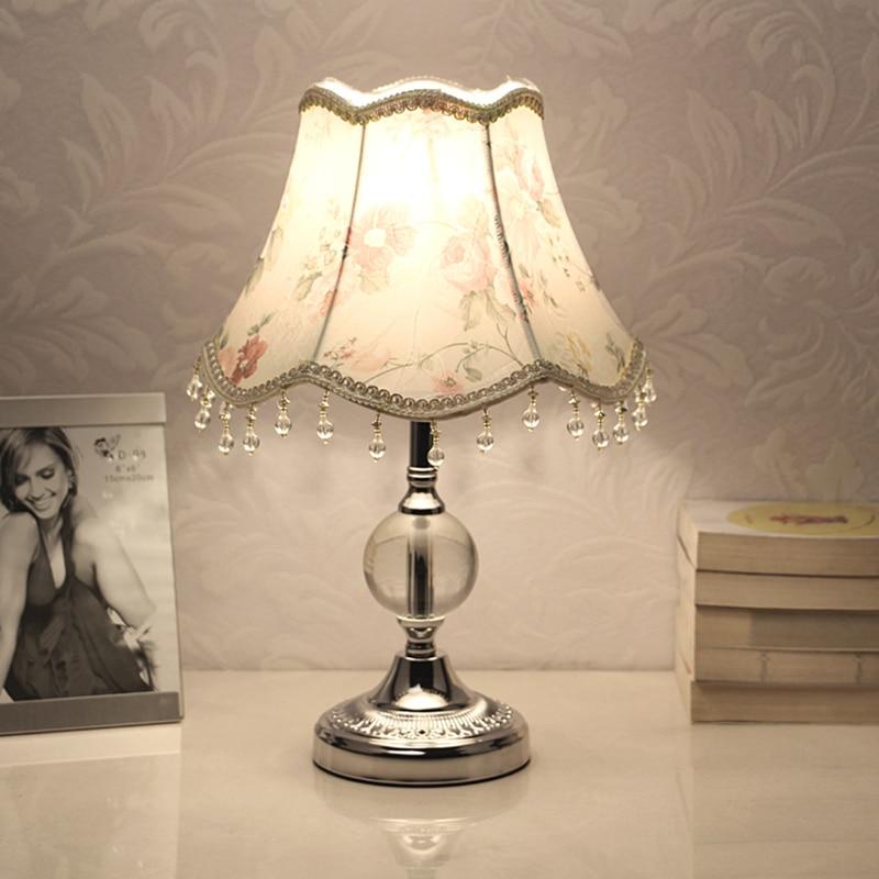 E27 Dimmable lampes de Table LED pour chambre cristal décoration lampe de chevet Table lanternes fille chambre décoration éclairage intérieur|LED Lampes de Table| |  -