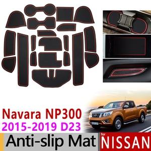 Для Nissan Navara NP300 D23 Противоскользящий резиновый коврик для двери 20 шт. 2015 2016 2017 2018 аксессуары Автомобильные наклейки Стайлинг автомобиля