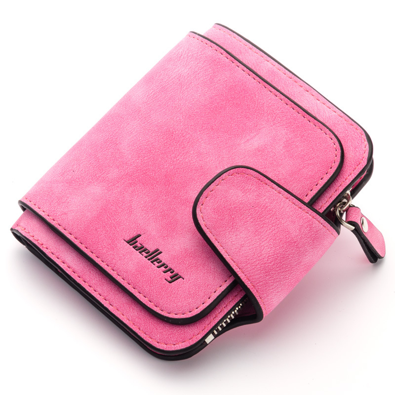 baellerry Wallet Women Vintage Fashion Top Quality Small Wallet Leather Purse Female Money Bag Small Zipper Coin Pocket Brand brand double layer zipper wallet phone bag purses women money bag high quality waterproof nylon clutches coin pocket