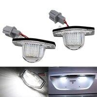 2pcs Set 18 SMD LED Number License Plate Light Lamp For Honda Crosstour CRV JAZZ ODYSSEY