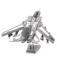 New Tornado Fighter Jets Top Quality Metallic Steel For Nano Intelligence 3D Fighter Puzzle Model Toy