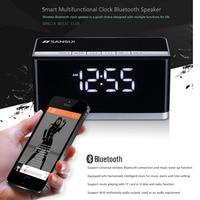 High Grade Bluetooth Audio Clock Alarm Portable Speaker Computer Living Room Stereo Subwoofer Radio LED Large