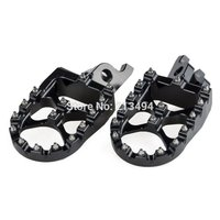 For Honda CRF150R CRF250R X CRF450R X Footrests Foot Pegs 57mm WIDE Anodized Black