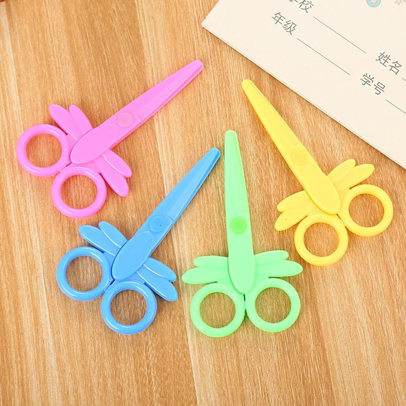 1pc Environmentally Safe Plastic Hand Shears Paper Cutting Scissors Office Stationery Tijeras Para Manualidades Ciseaux Scolaire