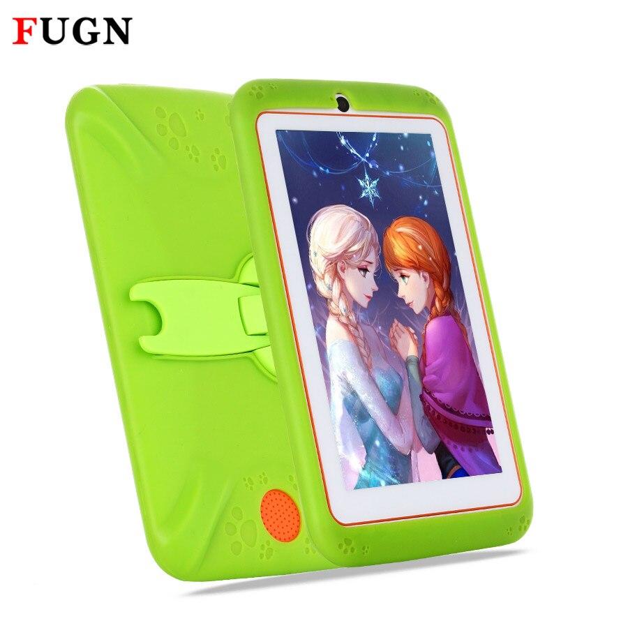 Fugn Android Планшеты PC 7 4 ядра 512 М Оперативная память 8 ГБ Встроенная память 16 ГБ двойной камеры Дети Планшеты детские рисунок Тетрадь с силикон...