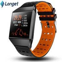 Longet Smart Uhr W1C Herz Rate Monitor Fitness Tracker Uhr Bluetooth Schlaf Monitor Sport Uhren für iOS Android pk fitbits