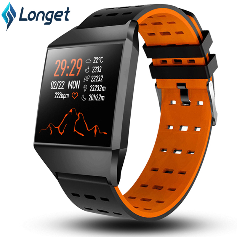 Longet Smart Watch W1C Heart Rate Monitor Fitness Tracker Watch Bluetooth Sleep Monitor Sport Watches For IOS Android Pk Fitbits