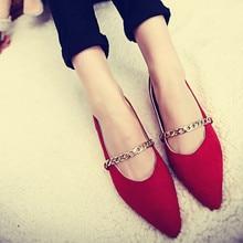 2016 Spring New Korean Asakuchi pointed flat shoes Peas shoes flat heels matte children