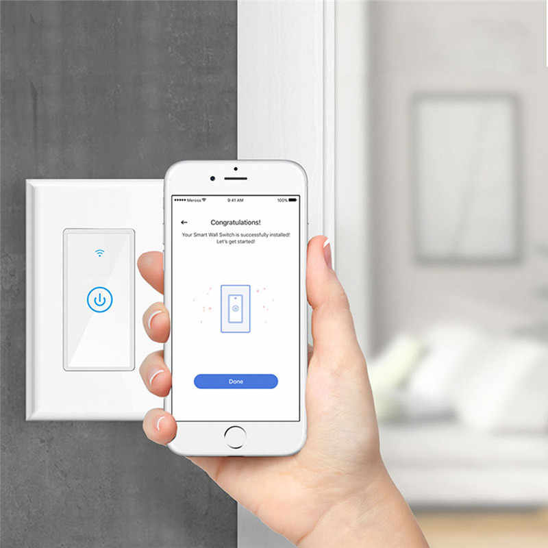 Meross MSS510 Smart Wi-Fi Wall Touch Switch Compatible with Amazon Alexa,  Google Assistant and IFTTT