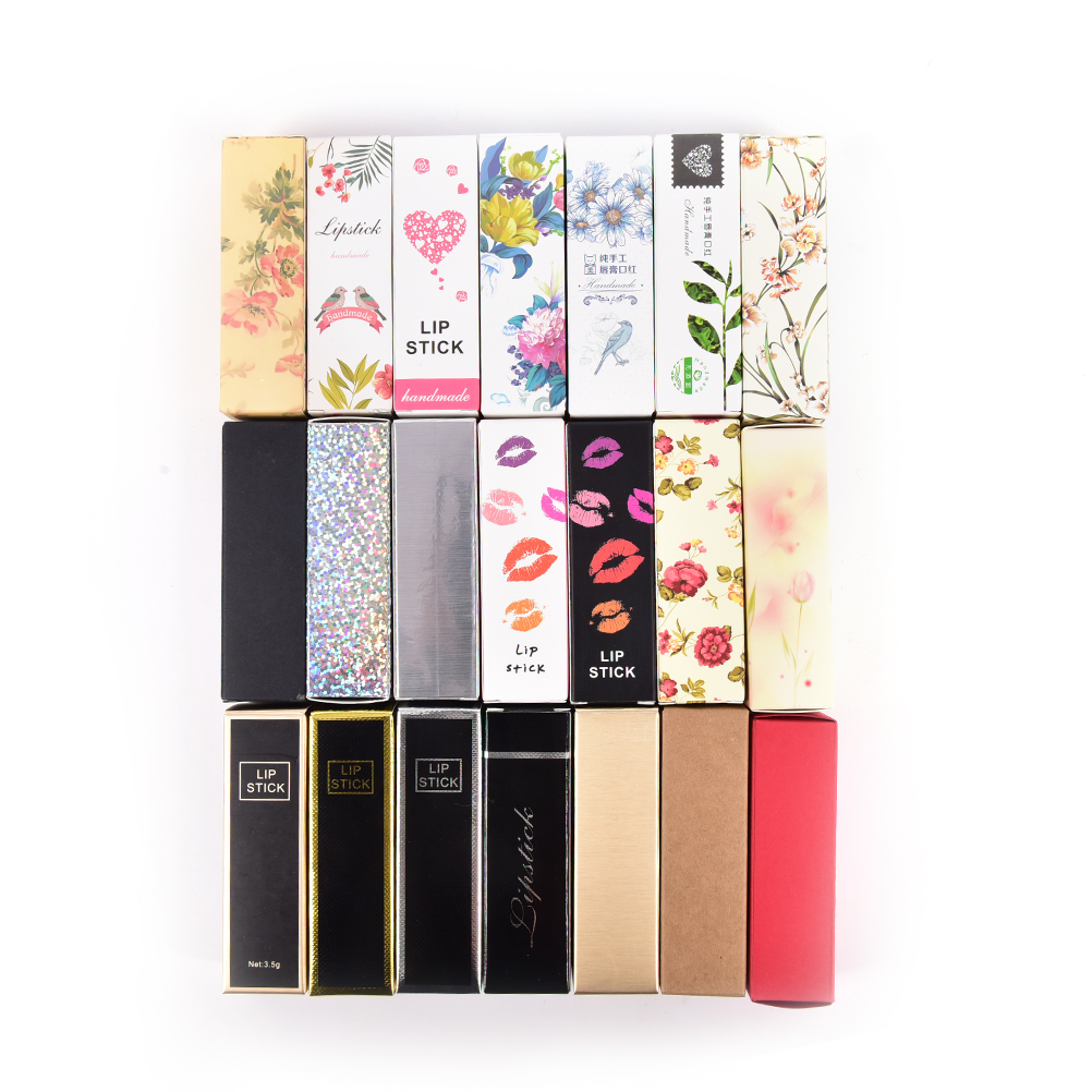 10pcs/lot 5G 5ml Lip Balm Tube Packaging Carton Box  Lipstick Tube DIY Packing Box Colorful Kraft Paper Gift 25*25*88mm