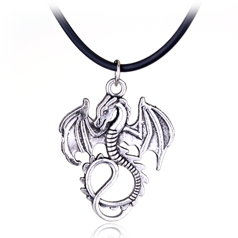 High quality Song Of Ice And Fire Game Of Thrones Targaryen Dragon Badge Necklace XY-N36