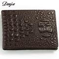 DANJUE Male Card Holder Genuine Leather Women / Men Card Case Trendy Crocodile Card Wallet Women And  Men Card Bag New
