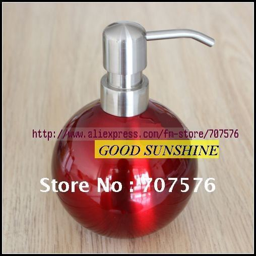 FREIGHT FREE / Free-Haul: Spherical Stainless steel Lotion bottle / Bathroom Soap Dispenser  GT-123 Capacily:1*500ml