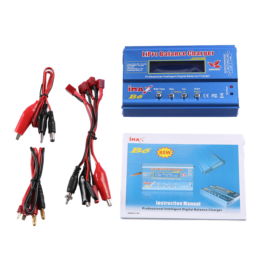Newest Build-Power 80W iMAX B6 Lipro NiMh Li-ion Ni-Cd RC lithium Battery Balance Digital Charger Discharger ocday 1set imax b6 lipo nimh li ion ni cd rc battery balance digital charger discharger new sale