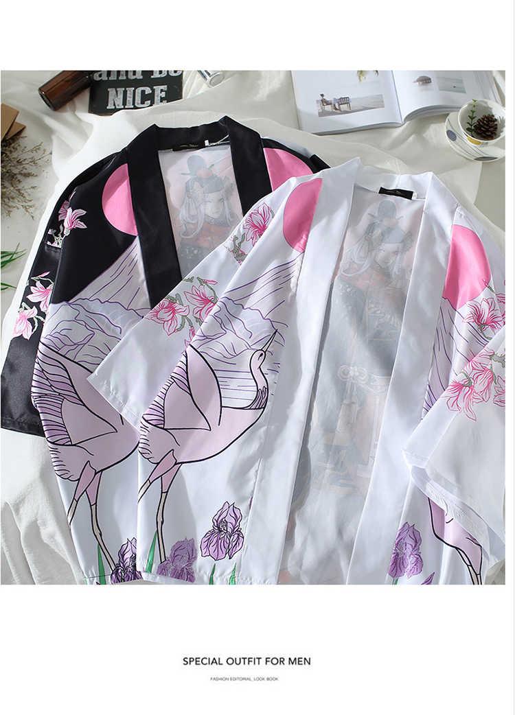 Kimono giapponese di Stile di estate Cardigan sottile Haori Harajuku Abbigliamento Tradizionale Yukata Uomini Giacca mikado kiimono uomini streetwear