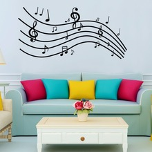 3D Creative Music line spectrum wall Stickers Vinyl DIY wall decals For Living room Musical instrument shop Music Room Decor Art