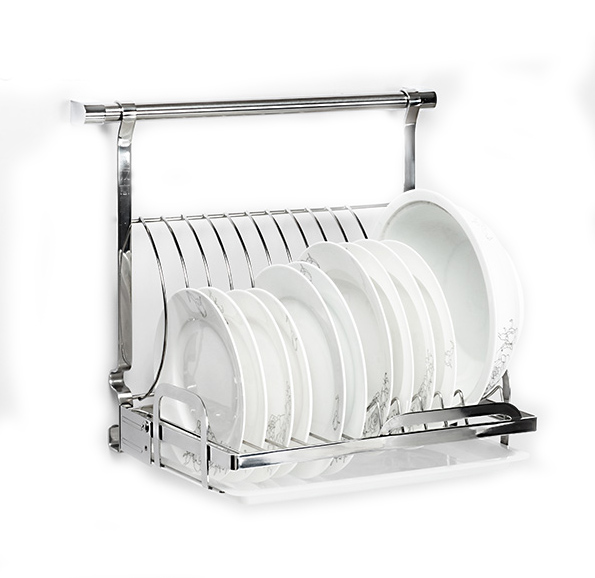 18 8 Stainless Steel Foladable Kitchen Plates Dishes Rack