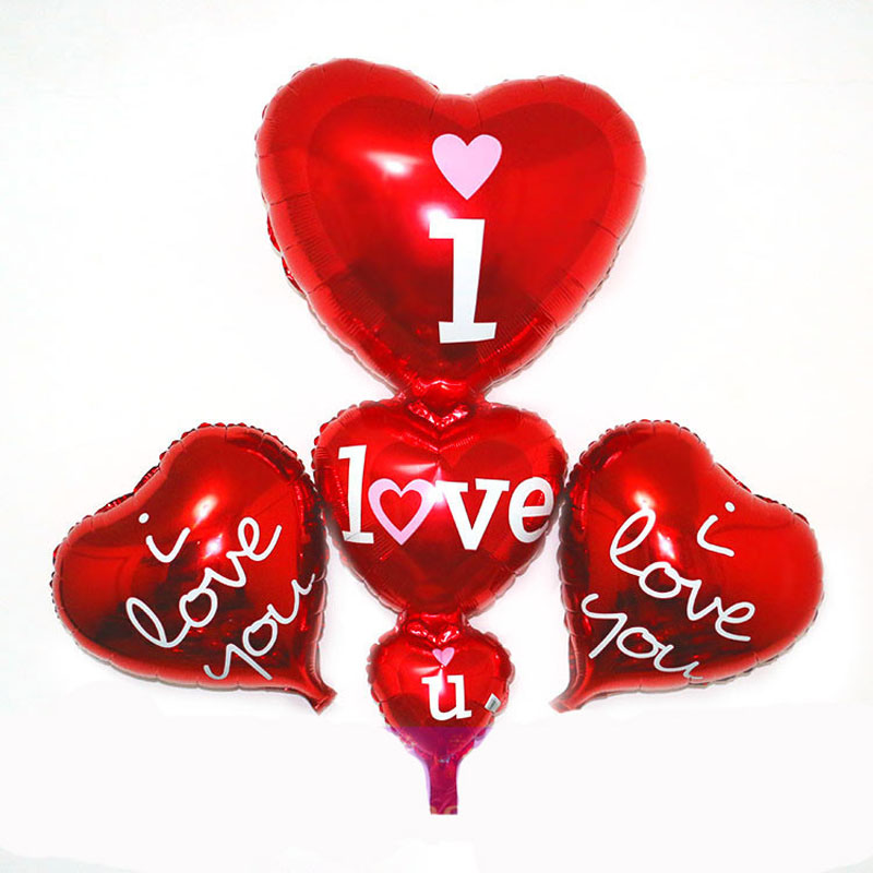 80x40cm baloon big i love you balloons party decoration heart