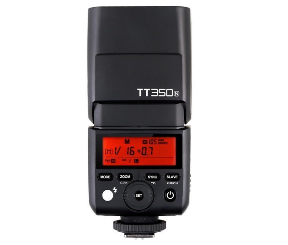 GODOX TT350N Flash Speedlite TTL HSS 1/8000s for Nikon D7500 D7000 D7200 D5100 D5200 D5000 D300 D7100 D3200 D810A D800 D90 D3400